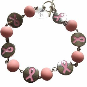 Handmade Breast Cancer Bracelet, NWT